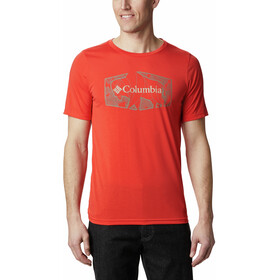 Columbia Terra Vale II T-shirt Heren, wildfire roam hex